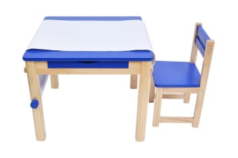 TikkTokk Little Boss Square Art Table & Chair Set -  Blue