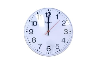 """250Mm (10"""") Wall Clock White 10Mt View"""