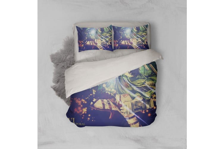 3D Anime Attack Giant Quilt Cover Set Bedding Set Pillowcases 76-King