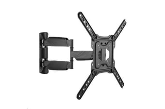 "BRATECK 23-55"" Full Motion TV Wall Mount. Profile 49-305mm. Max VESA 400x400mm"