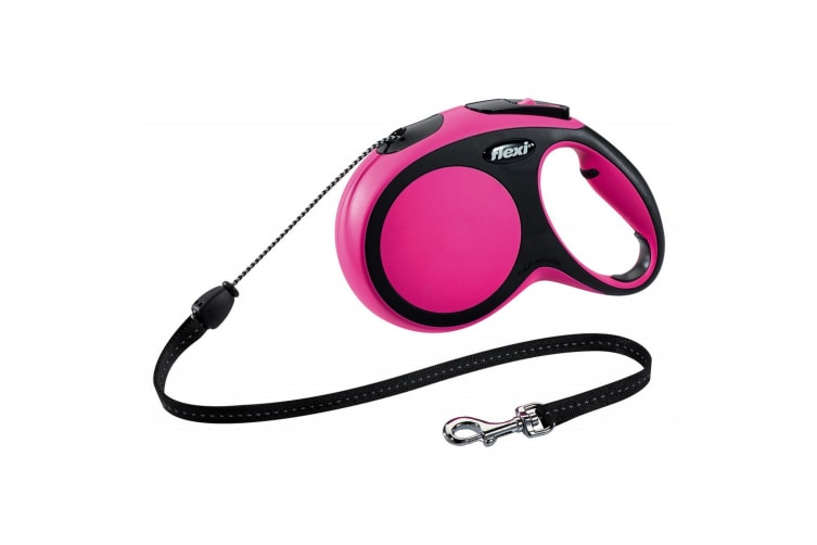 Flexi New Comfort Cord Dog Leash (Pink) (S-M)