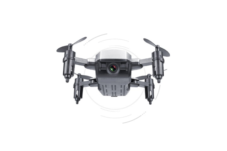 Mini Folding Uav Four Axis Vehicle Remote Control Aircraft Toys - Silver Silver 300000 Pixels