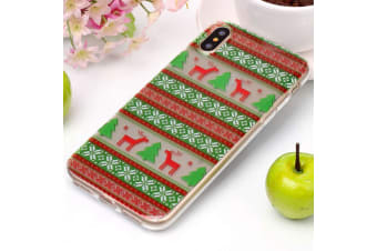 For iPhone XS X Back Case  Tribal Elk High-Quality Durable Shielding Cover