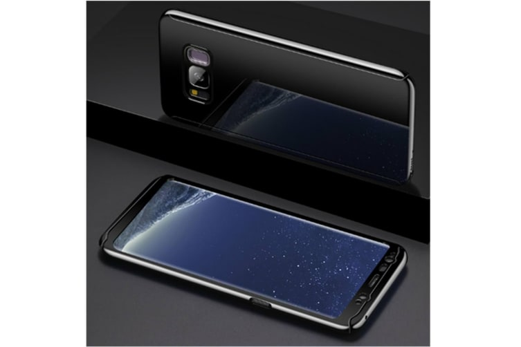 Mirror Cover Full Protective Scratchproof Flip Stand Case Shell For Samsung Black Samsung S8Plus