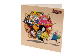 Adventure Time Character Birthday Card (Multicoloured)