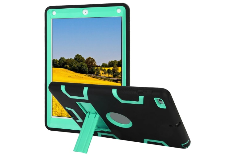 Kids Shockproof Case Heavy Duty Tough Kick Stand Cover For iPad Pro 9.7 Inch 2016-Type3-MintBlack