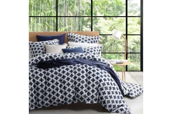 Ford Navy Quilt Cover Set King by Platinum Collection