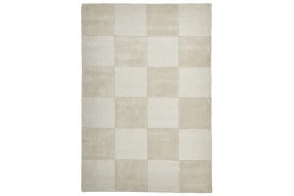 Wool Hand Tufted Rug - Box Oatmeal - 225x155cm