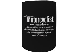 123t Stubby Holder - motorcyclist meaning - Funny Novelty
