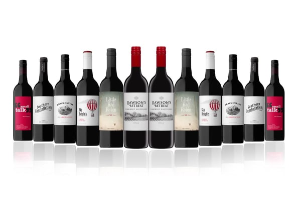 Australian Red Mixed Carton Featuring Rawsons Cab Sav (12 Bottles)