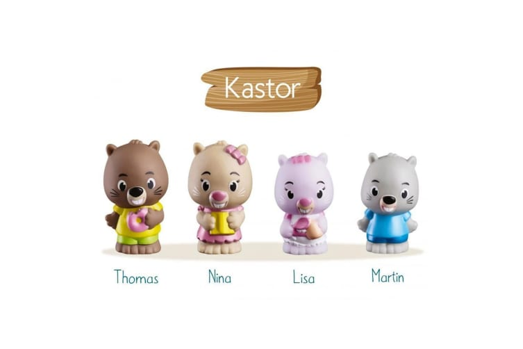 Klorofil Kastor Family 4 Figure Set