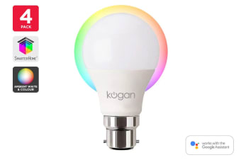 Kogan SmarterHome™ 10W Ambient Smart Bulb (B22) - Pack of 4