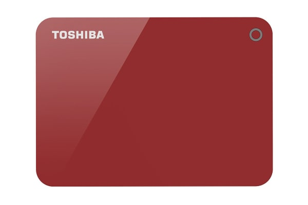 Toshiba Canvio Advance V9 USB 3.0 Portable External Hard Drive 2TB - Red (HDTC920AR3AA)