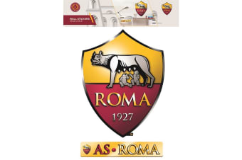 AS Roma Official Wall Stickers (Set of 2) (Red/Yellow)