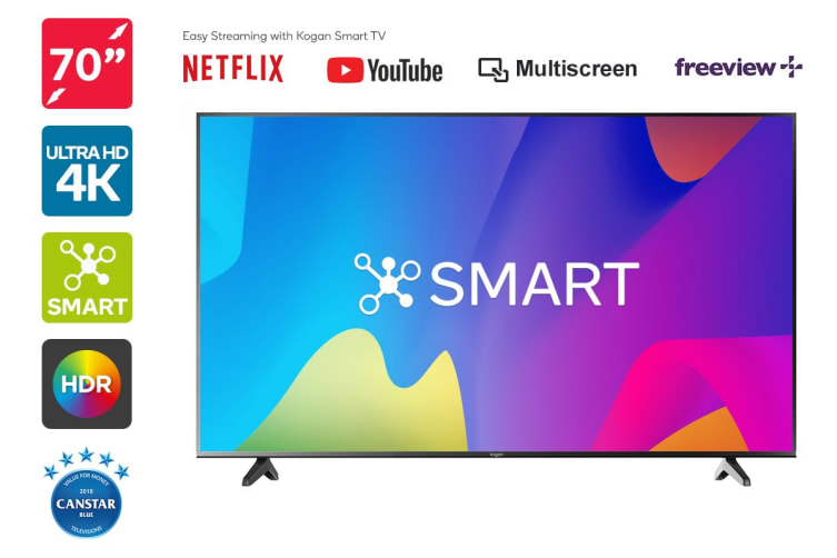 "Kogan 70"" Smart HDR 4K LED TV (Series 8 LU8010)"
