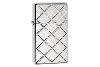 Zippo Slim Argyle 28581 Genuine Polish Armor Finish Pocket Lighter Windproof