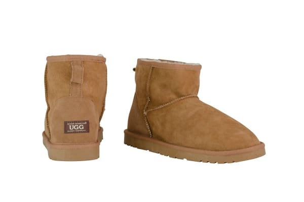 OZWEAR Connection Classic Mini Ugg Boots (Chestnut, Size 5M / 6W US)