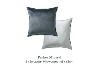 Pair of Parker Mineral European Pillowcases by Platinum Collection