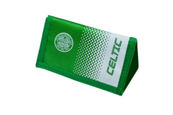 Celtic FC Official Fade Football Crest Design Wallet (Green/White) (One Size)