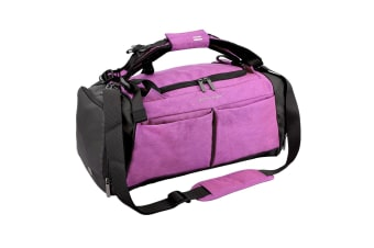 Gym Duffel Bag with Shoe Compartment Waterproof 40L Sports Travel Bag Unisex Red