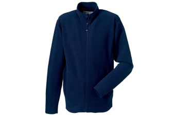Russell Europe Mens Full Zip Anti-Pill Microfleece Top (French Navy) (XL)