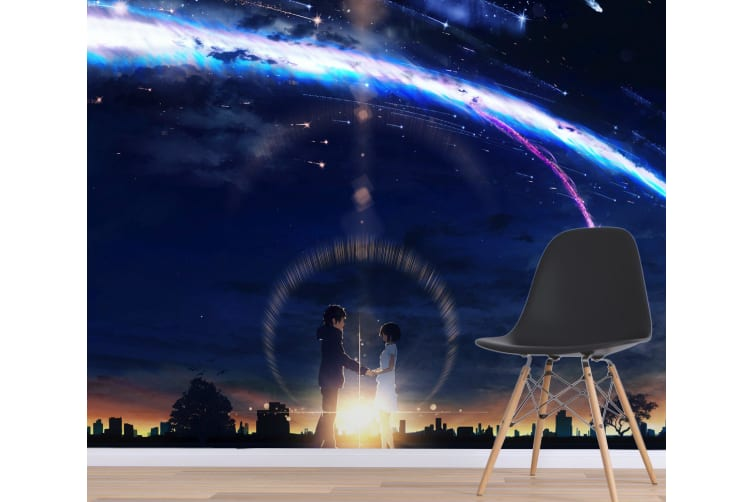 3D Your Name 071 Anime Wall Murals Woven paper (need glue), XL 208cm x 146cm (WxH)(82''x58'')