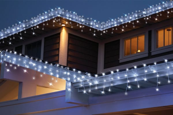 100 Solar LED Decorative Curtain Lights - White