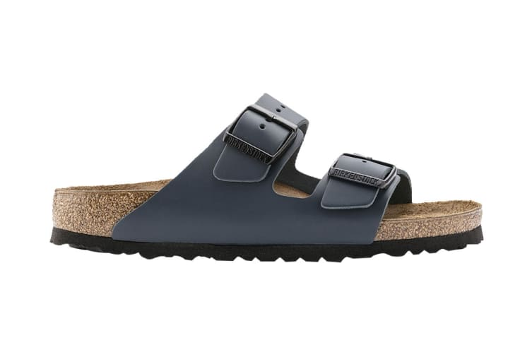 Birkenstock Unisex Arizona Smooth Leather Sandal (Navy, Size 42 EU)