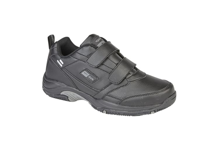 Dek Mens Ohio Leather Trainers (Black) (5 UK)