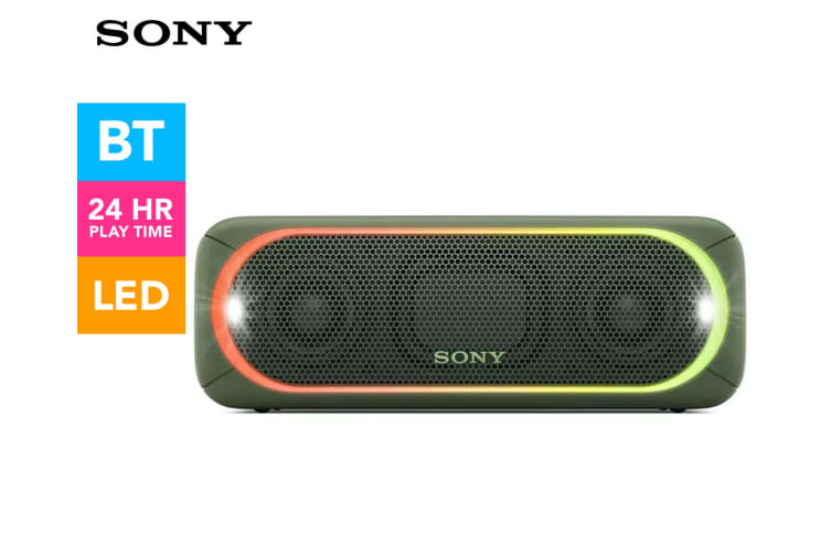 Sony Stepup Extra Bass Wireless Bluetooth Speaker w/LED Up to 24h Battery Green