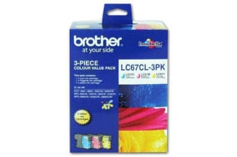 BROTHER Ink Cartridge LC67CL3PK Cyan/Magenta/Yellow