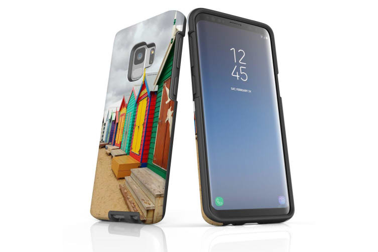 For Samsung Galaxy S9 Case Armour Cover  Brighton Bathing Boxes