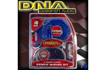 DNA 1200W CAR AUDIO 4 2 1 CHANNEL POWER AMPLIFIER AMP WIRING KIT CABLE AK40