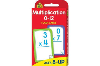 School Zone Multiplication 0-12 Flash Cards (new cover)