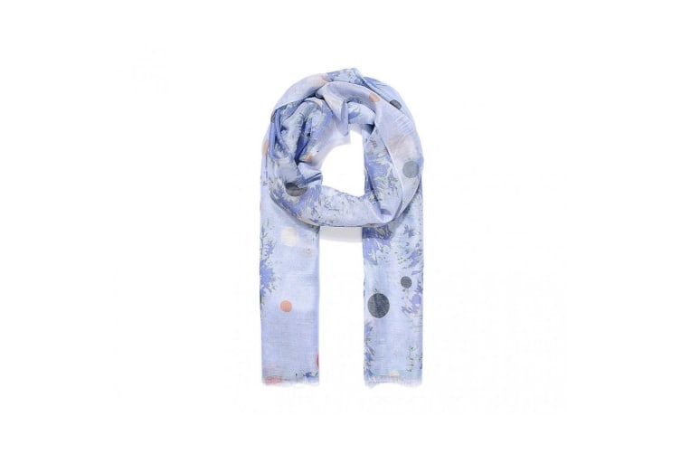 Intrigue Womens/Ladies Blotched Dot Print Scarf (Blue) (One Size)