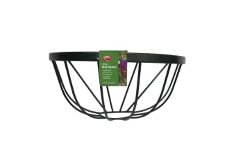 Ambassador Flat Bar Wall Basket (Black)