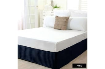 Ardor Quilted Valance Navy King Single