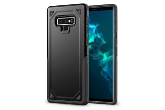 For Samsung Galaxy Note 9 Back Cover Black Rugged Armour Protective Cover