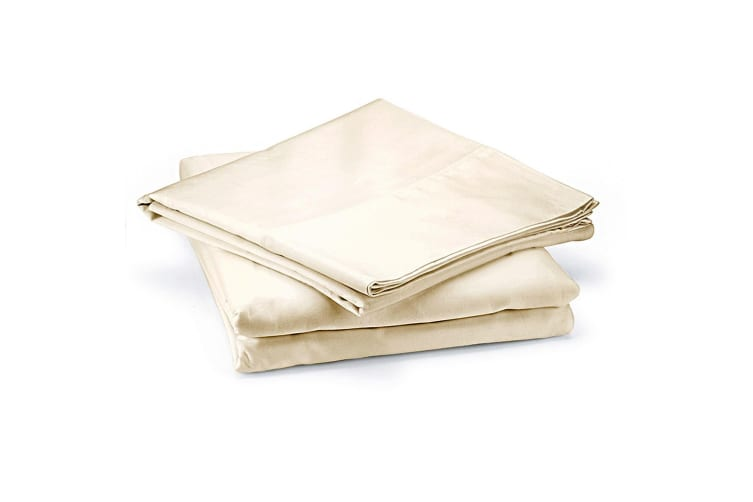 Royal Comfort 1000 Thread Count Cotton 4 Piece Quilt Cover Set for Double Bed - Ivory