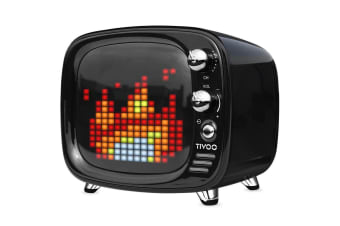 Divoom Tivoo Portable Bluetooth 5.0 Speaker w/ LED Light Pixel Art Creation BLK