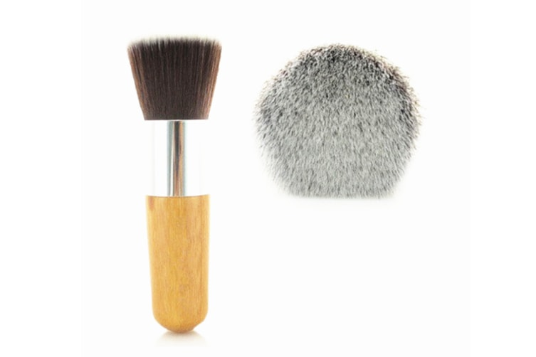 Multifunctional Brush With Single Natural Bamboo Handle Flat Top