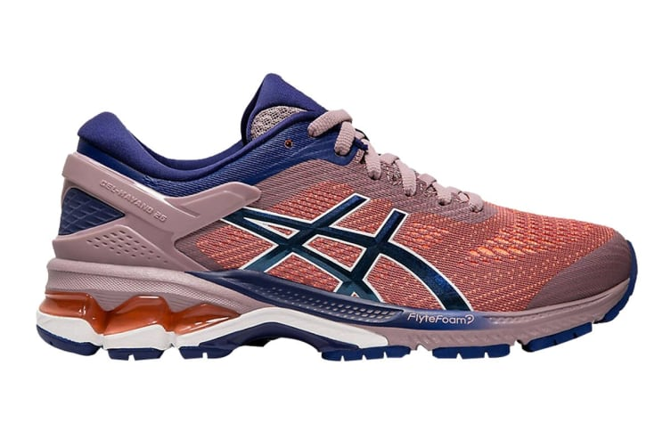 ASICS Women's Gel-Kayano 26 Running Shoe (Violet Blush/Dive Blue, Size  11 US)
