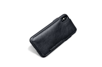 Retro Pu Flip Leather Wallet Case For Iphone X Xs Card Slot Holder Cover Black Iphone Xs