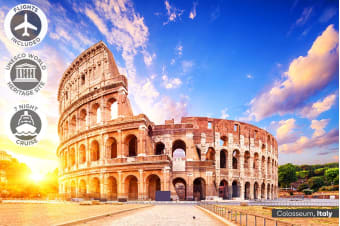 EUROPE: 19 Day Italy Escape and Mediterranean Cruise Including Flights for Two