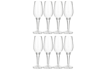 8PK Thumbs Up Champagne Shot Glass Set - Clear