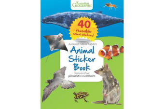 Animal Sticker Book - Reefs and Grasslands