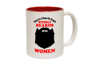 123T Funny Mugs - There Is A Name Beards - Red Coffee Cup