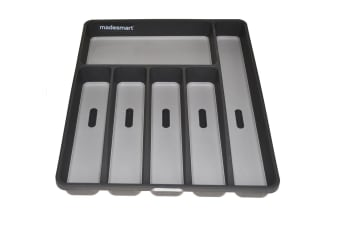 Madesmart Cutlery Tray 6 Compartment Grey