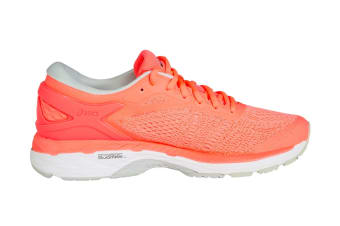ASICS Women's Gel-Kayano 24 Running Shoe (Flash Coral/Black/White)