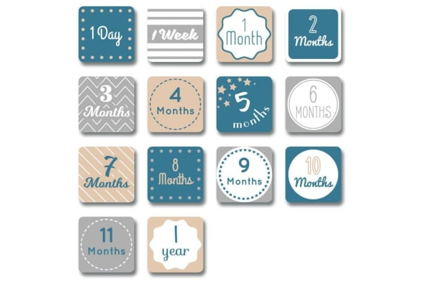Lulujo I Will Move Mountains Baby's First Year Blanket and Cards Set